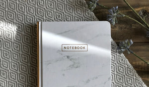 Designworks Ink Medium Marble Journals - White