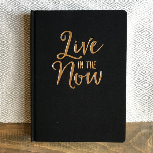 Large Book Cloth Journal - Live In The Now