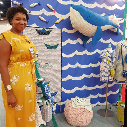 Kujira and Star Fabric by Rashida Coleman-Hale