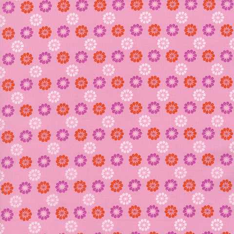 Cotton + Steel Daisies Pink