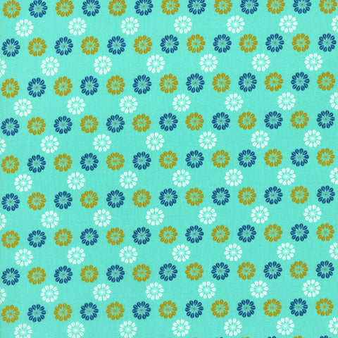 Cotton + Steel Star in aqua
