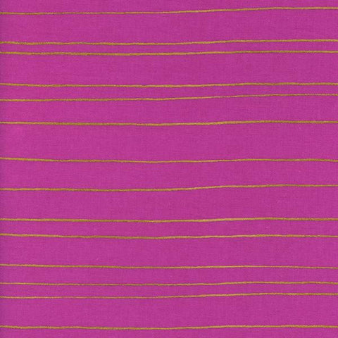 Fruit Dots by Melody Miller Gold Stripe in Orchid