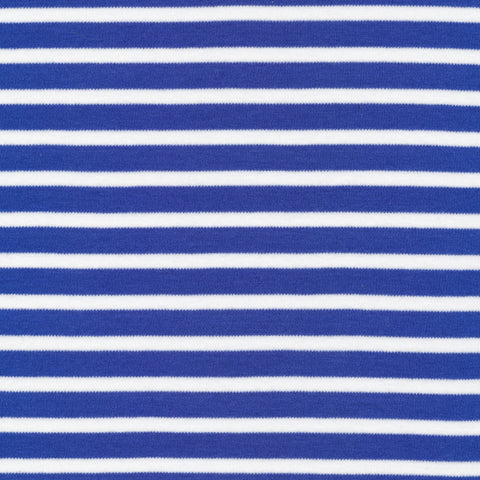 Cloud 9 Organic Cotton KNITS - Colorful Stripes Blue