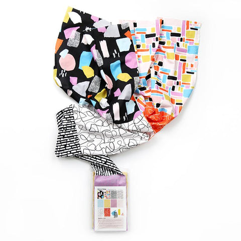 "Designer Bundle - Abstract Collage ""Bright"" colourway by Ampersand Studio, Flat Fat Stack"