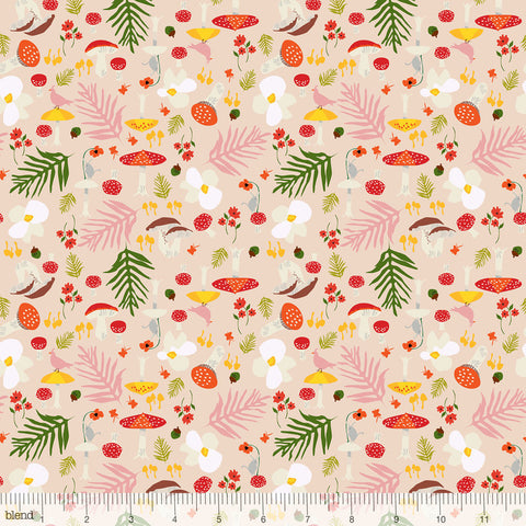 Blend Fabrics - Enchanted - Forage in Pink