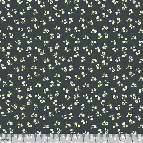 Blend Fabrics - Enchanted - Posy in Grey