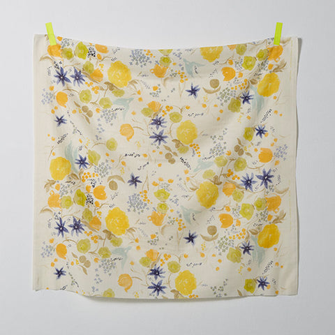 Nani Iro Double Gauze 2018 Fuccra Rakuen Yellow Flowers