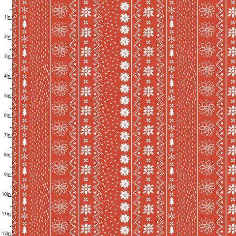 Quilter's Palette - Happy Holidays by Flora Waycott - Sweater Stripe in Red