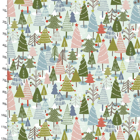 Quilter's Palette - Happy Holidays by Flora Waycott - Forest