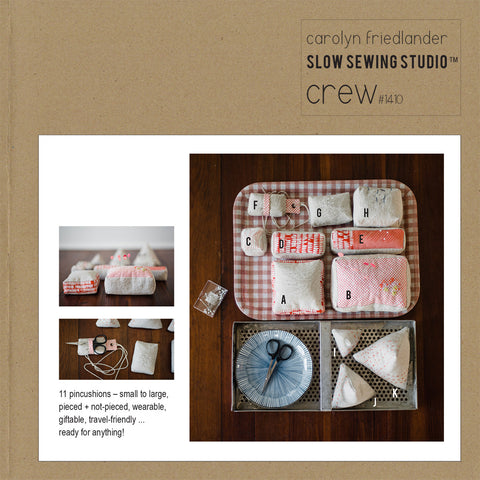 Carolyn Friedlander Crew Pincushions Pattern