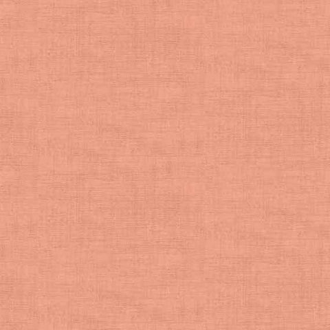 Makower Linen Texture in Coral Pink