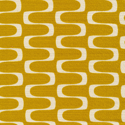 In Theory Bark Cloth - Wavelength Gold