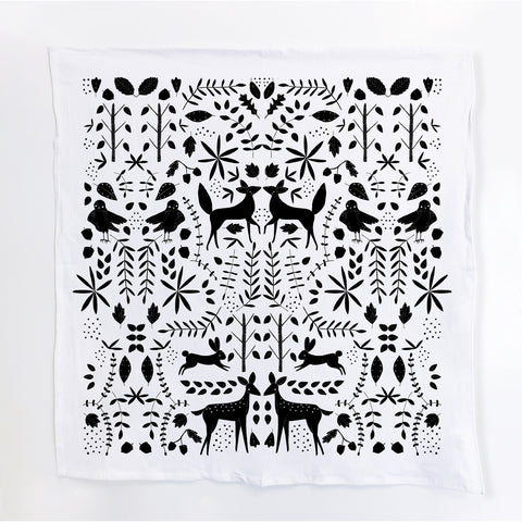 Gingiber Otomi Tea Towel - Black