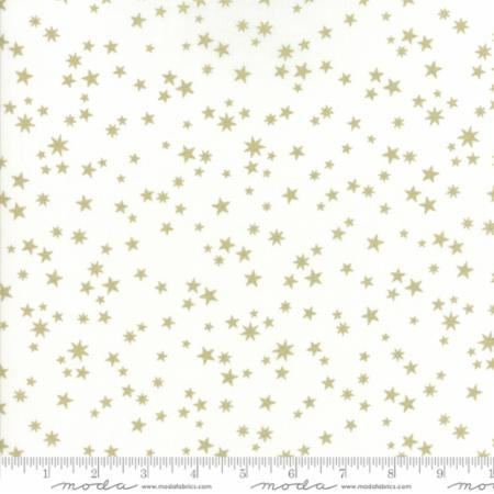 Zen Chic White Christmas Metallic - Stars in White