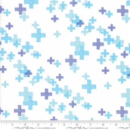 Zen Chic Modern Backgrounds Colorbox - Pluses White/Periwinkle