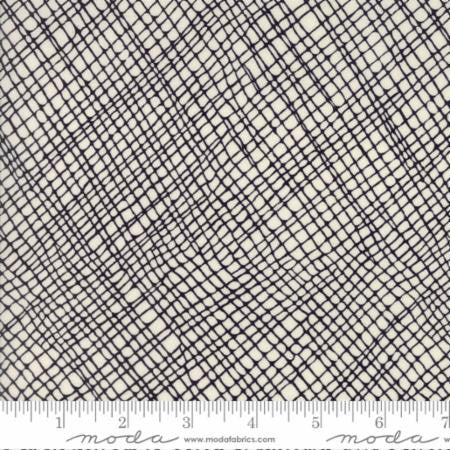 Thicket by Gingiber, Crosshatch Natural Black