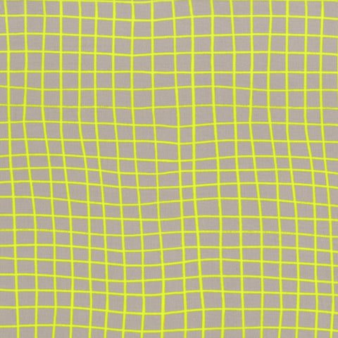Cotton + Steel On The Grid in Citron