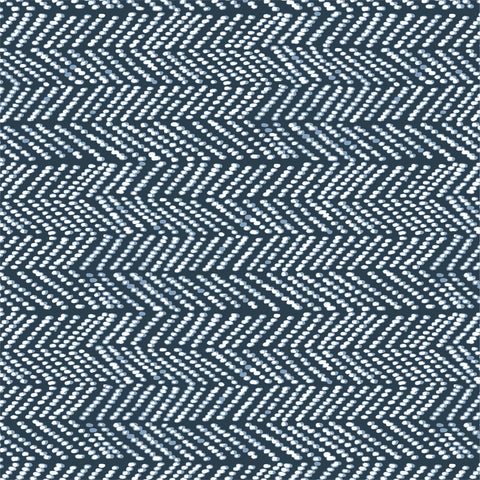 Terrestrial Organic Cotton by Sarah Watson - Herringbone in Navy