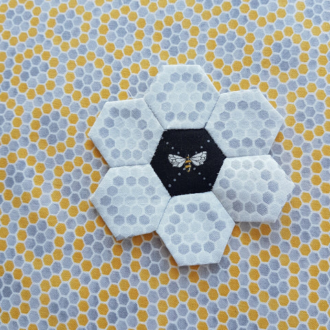 Bee Inspired by Deb Strain Bumble Bee Lattice Ebony