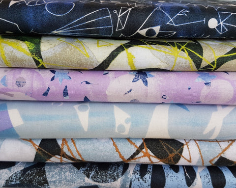 Designer Bundle - Lizzy House Print Making 6 x Fat Quarters