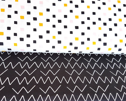 Leah Duncan Lines and Shapes Canvas - Angled Black