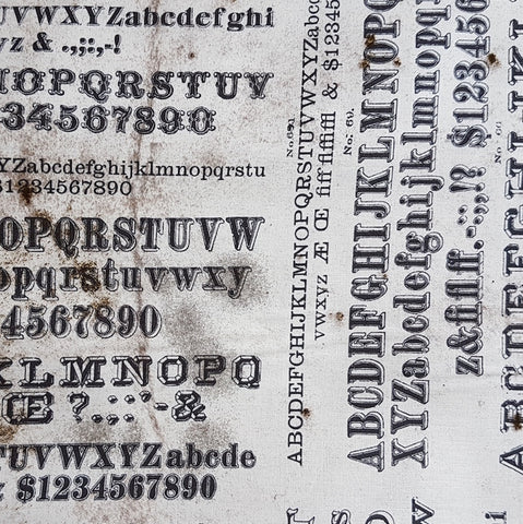 Tim Holtz - Dapper Typography in Neutral