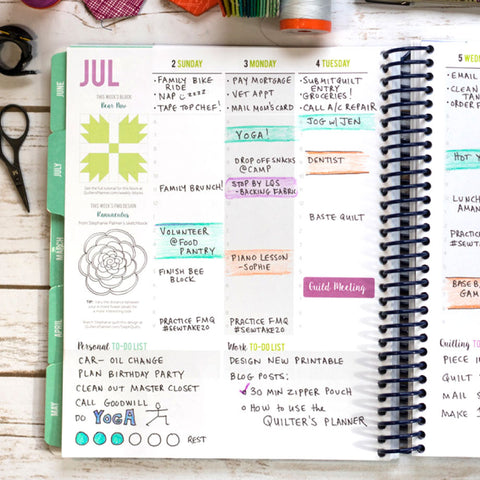 The Quilter's Planner 2018