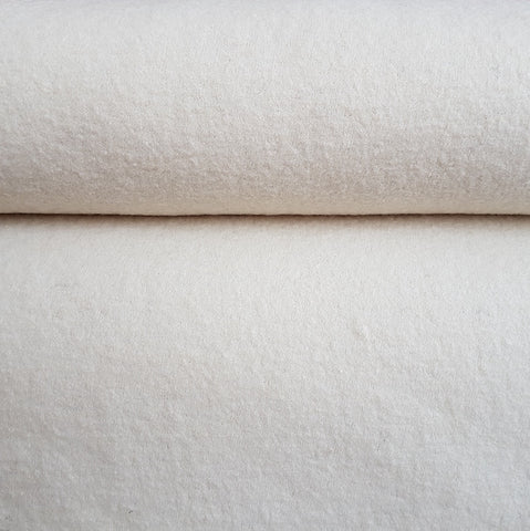 Euro Boiled Wool in Winter White