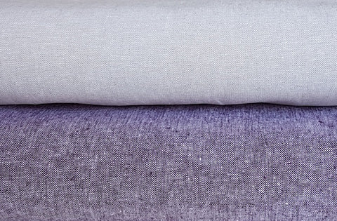Essex Yarn Dyed linen/cotton - Eggplant