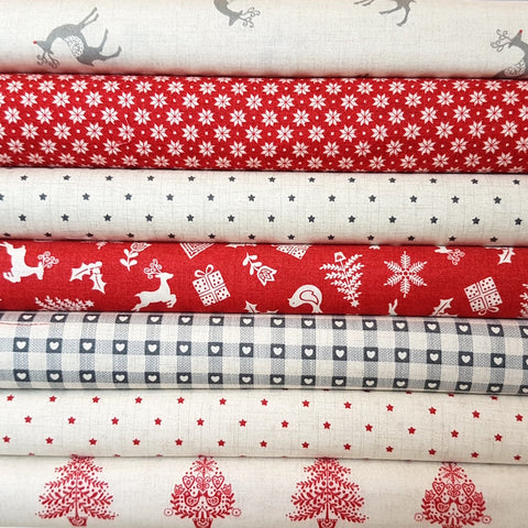 Makower Scandi Christmas Scatter Red