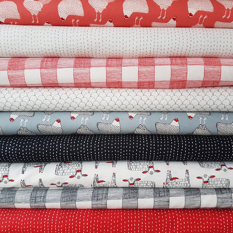 Farm Fresh by Gingiber - Gingham in Rooster Red