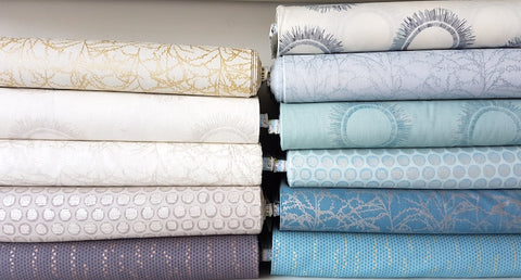 Designer Bundle - Winter Shimmer by Jennifer Sampou- fat quarters