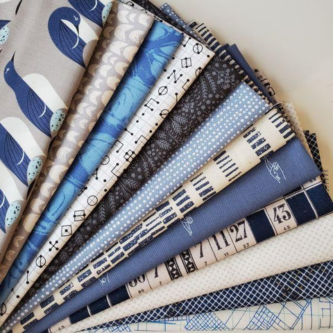 Fat Quarter Bundle - Daryl's Picks Bundle - Blue / Grey