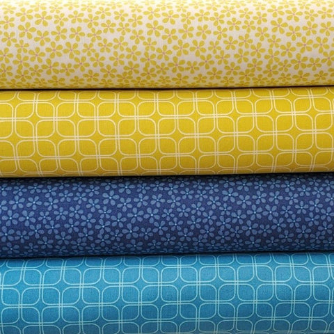 Figo Midsommar by Pippa Shaw - Modern Grid in sky blue