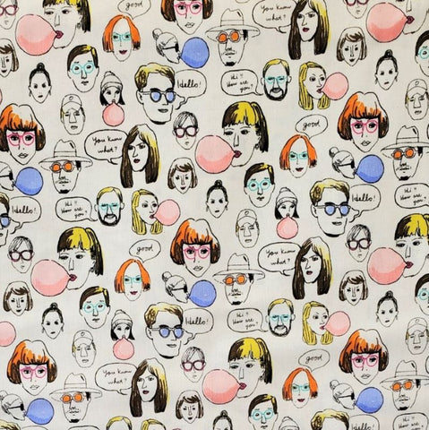 Talking Heads Cotton Sheeting