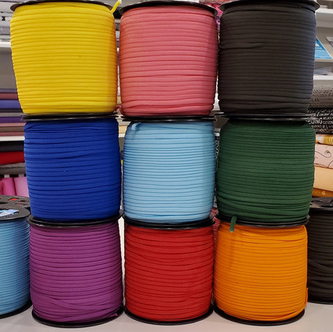 "1/6"" Banded Stretch Elastic- Colourful Options"