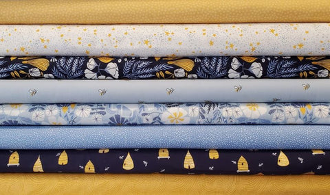 Honey Bee by Rae Ritchie - Bee Hives in Navy