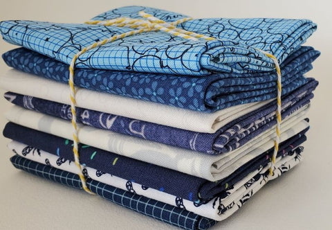 Staff Picks Bundle - 8 Fat Quarters - Navy Seal