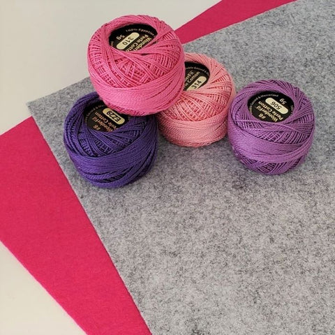Embroidery Fundamentals - Felt Sampler Pin Cushion Kit - Choose your colourway