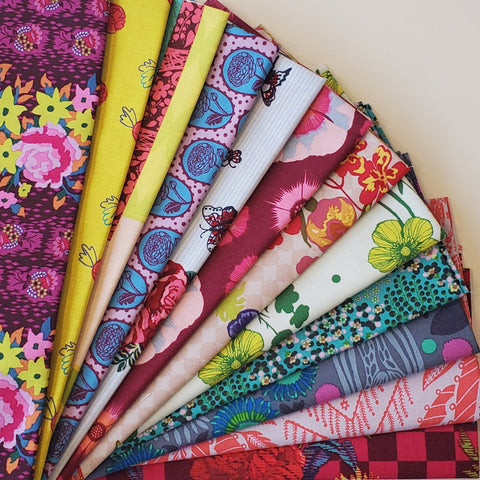 Curated Boho Bundle - 12 Fat Quarters - Various designers