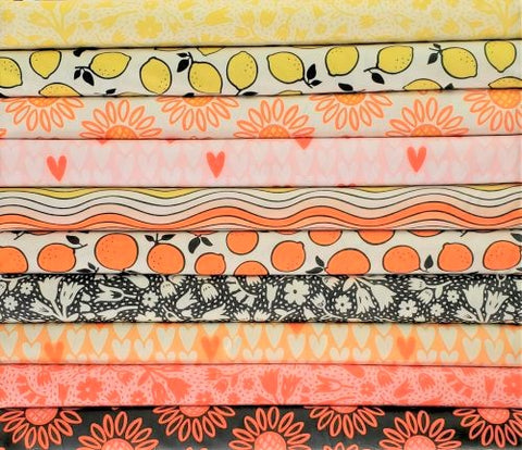 Designer Bundle - Squeeze by Dana Willard x 10 Fat Quarters