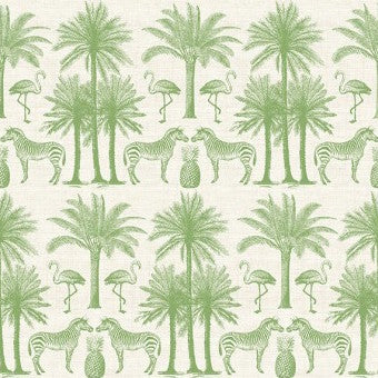 Fern Garden by Makower - Palm in Green