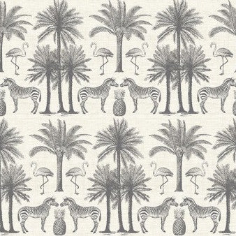 Fern Garden by Makower - Palm in Grey