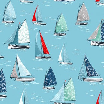 Makower Sea Breeze - Yachts in Blue