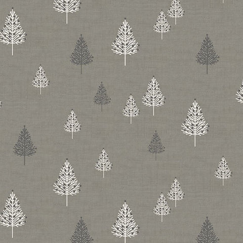Makower Scandi 2019 Trees in Silver