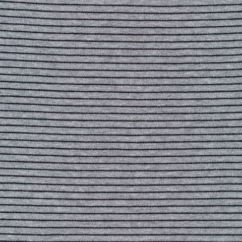 Cloud 9 Organic Cotton KNITS - Little Stripes Heather Gray and Black