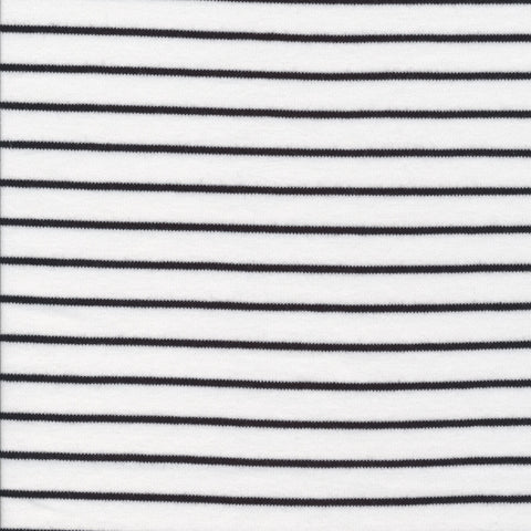 Cloud 9 Organic Cotton KNITS - Stripes in White and Black
