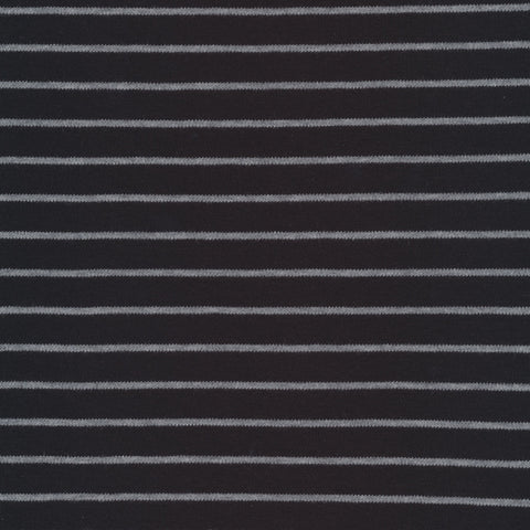 Cloud 9 Organic Cotton KNITS - Stripes Black and Heather Gray