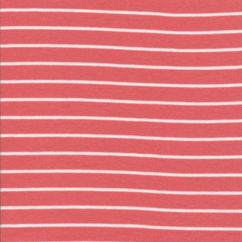 Cloud 9 Organic Cotton KNITS - Stripes Red/White