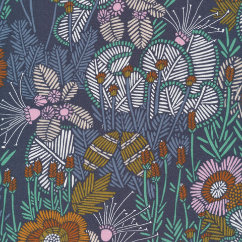 Sarah Watson Grasslands Organic Cotton - Embroidered Floral